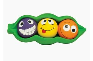 *NEW* Multipet Squeakables 7.5' 4N1  Peas-in-a-Pod Squeaky Toy For Dogs