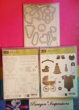 NEW Stampin Up SOMETHING FOR BABY & MADE WITH LOVE BABY'S FIRST Framelits Dies