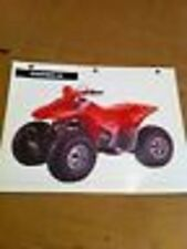 Specifications Features & Benifits Chart For The 1995 Honda Fourtrax 90