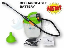 5L RECHARGEABLE WEED SPRAYER GARDEN ELECTRIC SPRAY UNIT BATTERY POWERED 12V/240V