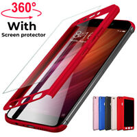 360° Full Cover Case + Tempered Glass For Xiaomi Redmi 7A 7 6A 4X Note 7 6 5 Pro