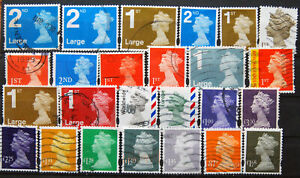 A Small Collection Of Used GB High Value Machin Definitives.