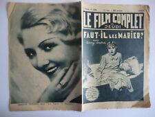Le Film complet du Jeudi n°1234- 1932 Faut-il les Marier par Pierre Rédinval