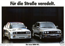 BMW E30 M3 BMW DTM Motorsport Large poster print Road & Race