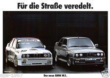 BMW E30 M3 BMW DTM Motorsport Large poster print Road & Race