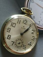 Beautiful Vintage ELGIN 17 Jewels Pocket Watch - Running!