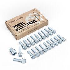 20pc Wheel Lock Kit 12x1.5 Lug Bolts | 39mm Shank Ball Radius Seat For Mercedes
