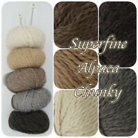 King Cole SUPERFINE ALPACA CHUNKY Super Soft Natural Shade Knitting Wool 50g