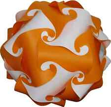 light shade kit retro puzzle lampshade ceiling Lantern 25cm Orange/White