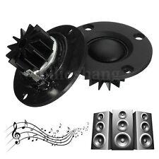 2Pcs 6Ohm 6Ω 30W Dome Hard Silk Film Tweeter Speaker HIFI Treble With Heatsink