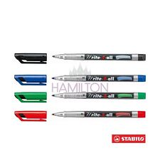 STABILO Write-4-all Permanent Marker Pens for Cds/dvds - Choose Line Width Green M Medium 1