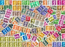 GB - Machin Definitive Stamps Kiloware with High Values - 40 Grams