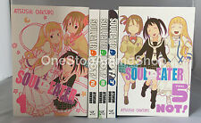 Soul Eater NOT! (Vol. 1 - 5)  English Manga Graphic Novels Set Lot NEW complete