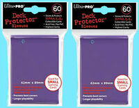 120 Ultra Pro DECK PROTECTOR PURPLE Card Sleeves YuGiOh Small Size Game Storage