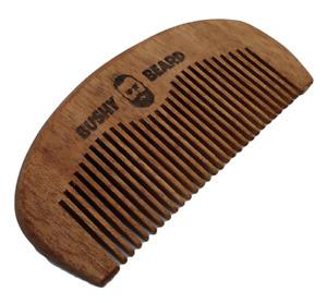 BUSHY BEARD - Moustache Amora Wooden Hair Comb Mens Birthday Gift Present Him