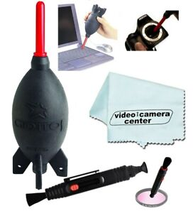 Giottos AA1900 Large Rocket Blaster Air Duster + MicroFiber + Lens Optic Pen