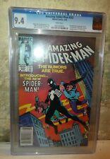 Marvel comics Spiderman 252 1st Black symbiote CGC white pages 9.4 amazing
