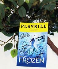 HoliBay! FROZEN Stage Used Prop & Partial Closing Cast Signed Playbill Bundle!