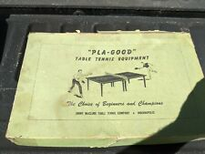 Rare Jimmy McClure Pla-Good Table Tennis Indianapolis Paddles Vintage Game Sport