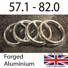 4 x 57.1 - 82mm Spigot Rings for Alloy Wheels Ronal Breyton AC Schnitzer BBS BMW