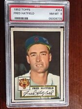 1952 Topps #354 Fred Hatfield PSA 8 NM-MT Detroit Tigers High Number low pop 28