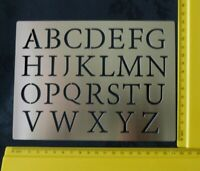 Large Stainless Steel Alphabet Upper Case Embossing/Pyrography Stencil