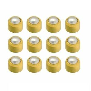 Caflon 24CT Gold Plated - Pearl Cabachon Stud (12 Pack)
