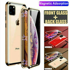 For iPhone 11 Pro Max Magnetic Adsorption Double Sided Tempered Glass Case Cover