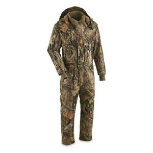 Guide Gear Men's Guide Dry Waterproof Insulated Hunting Coveralls Camo
