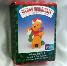 HALLMARK ORNAMENT ~ MERRY MINIATURES ~ WINNIE ~ CHRISTMAS at POOHS HOUSE *NEW