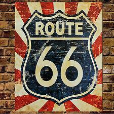 Personnalisé route 66 en métal vintage man cave sign bar cadeau frère père noël