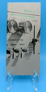 SONY 1974 Product Catalog Advertising Receivers Amplifiers STR-7065 TA-1130