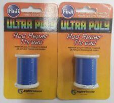 2-Fuji Ultra Poly Nylon 100M Spool Dark Blue Rod BuildThread 2 Pack Npa00-008C