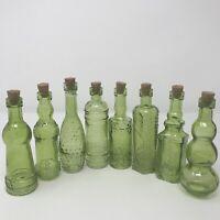 VINTAGE STYLE MINI bottles With Cork, Set Of 10, Unique Shapes, Wedding Favors