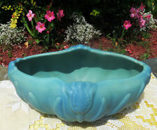 VAN BRIGGLE TULIP CONSOLE BOWL IN MING BLUE FROM THE MID-20TH CENTURY