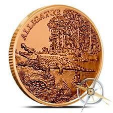 American Wildlife Series   Alligator   1 oz .999 Copper BU Round Collectors Coin