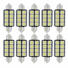 10 Stk Auto PKW 42mm 5050 8 SMD LED Soffitte Weiß 12V 4W Innenraumbeleuchtung