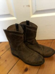 Stunning Distressed Leather Ariat Cowboy Boots Size 36.5 Hardly Worn