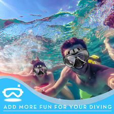 Swimming Half Face Mask Scuba Diving Snorkeling Freediving Goggles For Adults