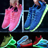 Women Men LED Light Lace Up Luminous Shoes Sneaker Sportswear USB Rechargeable