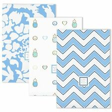 SwaddleDesigns Set of 3 Blue Burp Cloths
