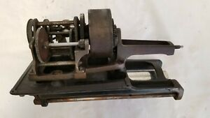 Edison 1908 Home Cylinder Phonograph parts Bed Plate, Mandrel, Gears, Spring