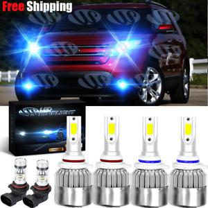 For Ford Explorer Sport Trac 2002-2005 blue LED Headlights Fog Light Bulbs Kits