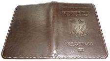 ~ RFID Blocking GERMAN PASSPORT WALLET HOLDER Calfskin Leather  Reisepass Hülle
