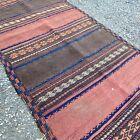 Antique Rug Runner Turkmenistan Wool Woven 1800s 9 Feet