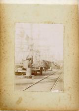 France, Bretagne, Ouvrier d'un port, ca.1900, vintage citrate print Vintage