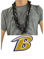 New NFL Baltimore Ravens BLACK Fan Chain Necklace Foam Magnet Made in USA