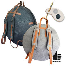 Handpan bag ST-H-FL02 Felt - Natural Leather with armored TOP, individual made