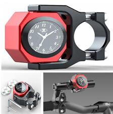 22-28 mm Impermeable Motocicleta Manillar Cuadrante Reloj Medidor De Tiempo De Temperatura