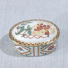 Royal Crown Derby HONEYSUCKLE Porcelain Trinket BOX, 1988, w/ Provenance  MINT!